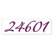 24601 Les Miserable Prisoner Number Bumper Bumper Sticker