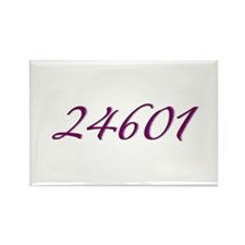 24601 Les Miserable Prisoner Number Rectangle Magn