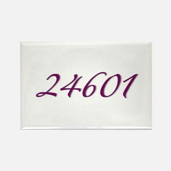 24601 Les Miserable Prisoner Number Rectangle Magn
