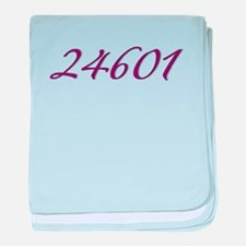 24601 Les Miserable Prisoner Number baby blanket