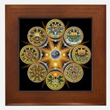 Witch's Wheel of the Year Framed Tile