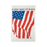 American Flag Long May it Wav Rectangle Magnet