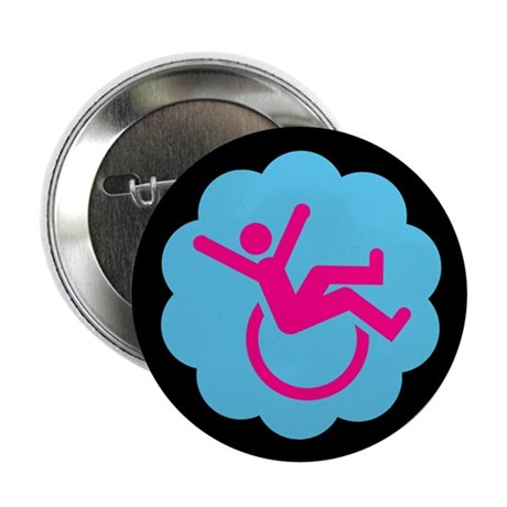 """Chronically Awesome Wheelie 2.25"""" Button (100 pack"""