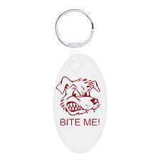 Cute Werewolf Aluminum Oval Keychain