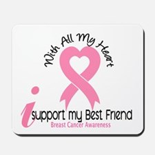 With All My Heart Breast Cancer Mousepad