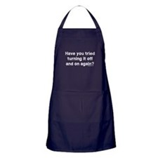 Tried turning it off funny IT Apron (dark)