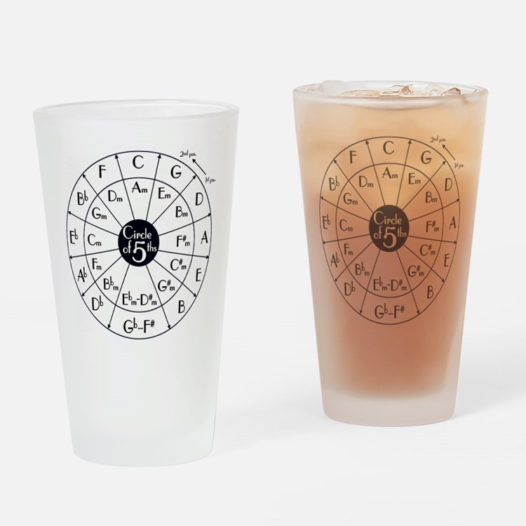 Cute Circle of fifths Drinking Glass