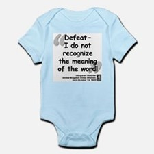 Thatcher Defeat Quote Infant Bodysuit
