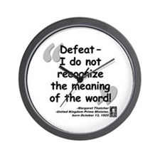 Thatcher Defeat Quote Wall Clock