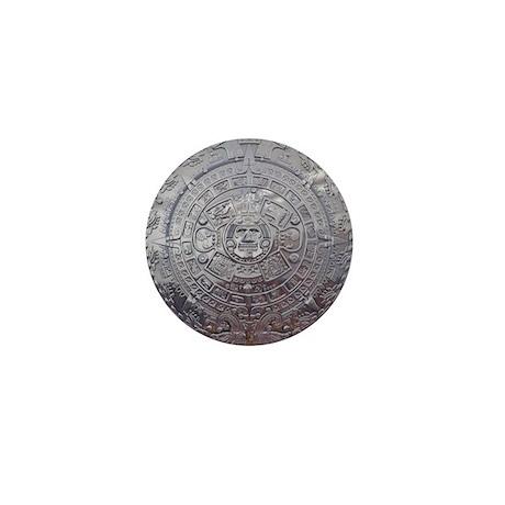 Modern Mayan Calender Mini Button