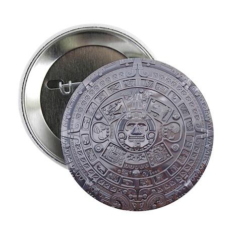"""Modern Mayan Calender 2.25"""" Button"""