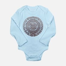 Modern Mayan Calender Long Sleeve Infant Bodysuit