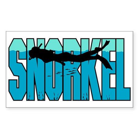 Snorkel Rectangle Sticker