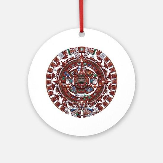 Mayan Calender Ornament (Round)