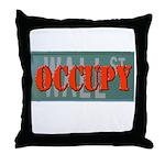 #OccupyWallStreet Throw Pillow