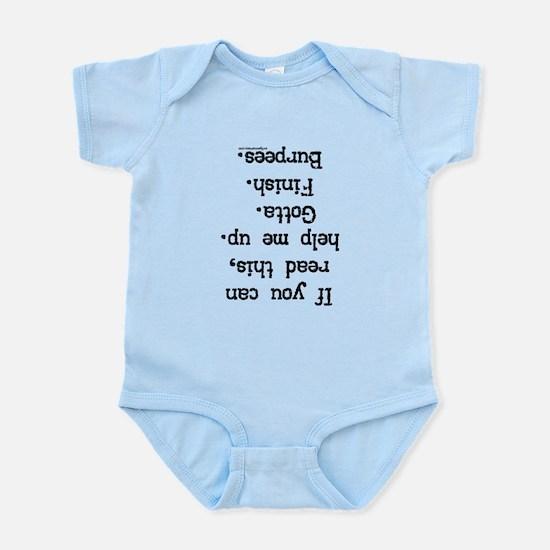 Upside down help burpees Infant Bodysuit