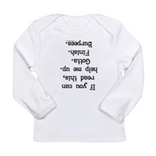 Upside down help burpees Long Sleeve Infant T-Shir