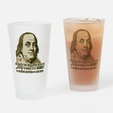 Franklin Liberty Vs Security Drinking Glass