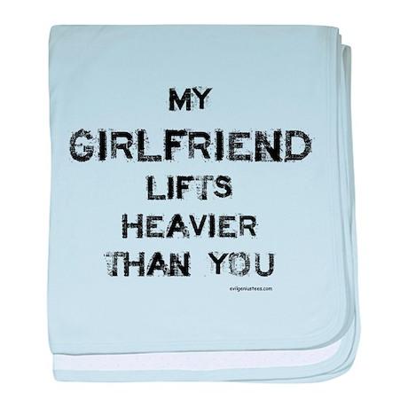 Girlfriend lifts heavier baby blanket