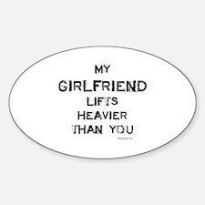 Girlfriend lifts heavier Decal