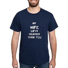 Wife lifts heavier T-Shirt