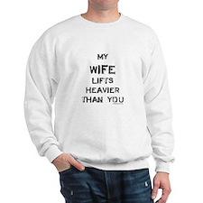 Wife lifts heavier Sweatshirt