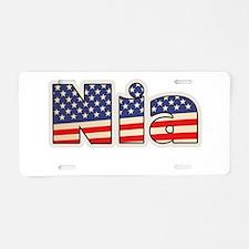 American Nia Aluminum License Plate