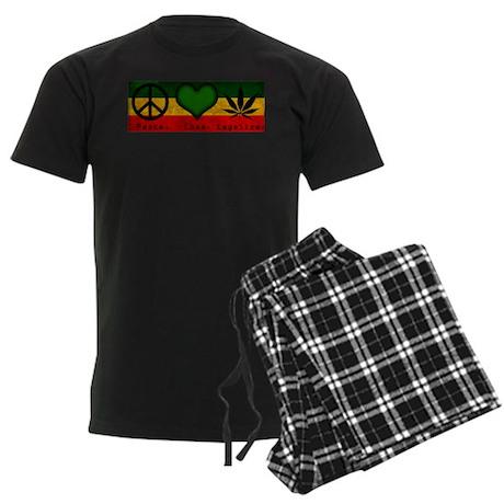 Peace.Love.Legalize Men's Dark Pajamas