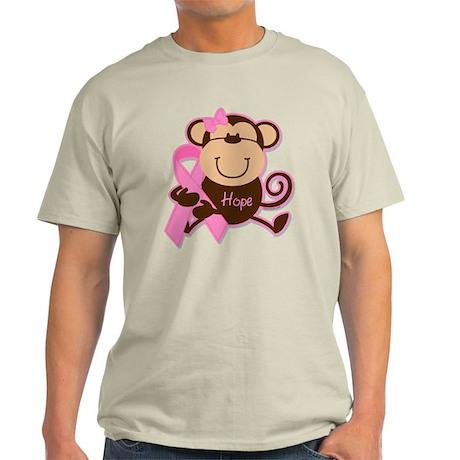 Monkey Cancer Hope Light T-Shirt