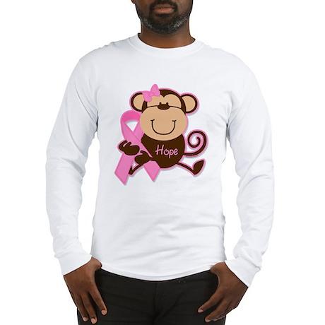 Monkey Cancer Hope Long Sleeve T-Shirt