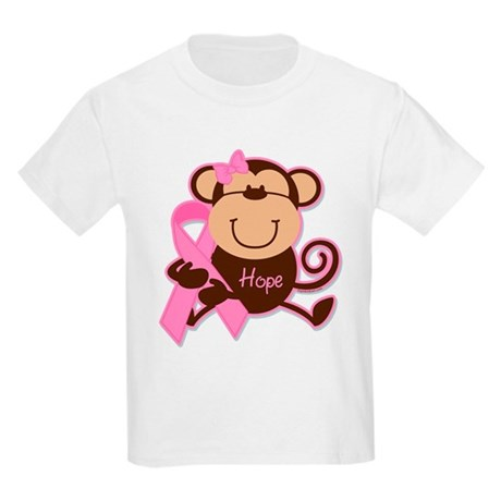 Monkey Cancer Hope Kids Light T-Shirt