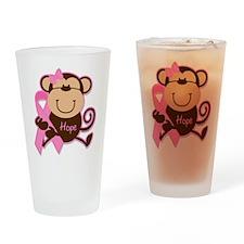Monkey Cancer Hope Drinking Glass