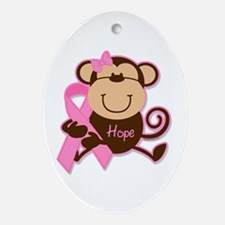Monkey Cancer Hope Ornament (Oval)