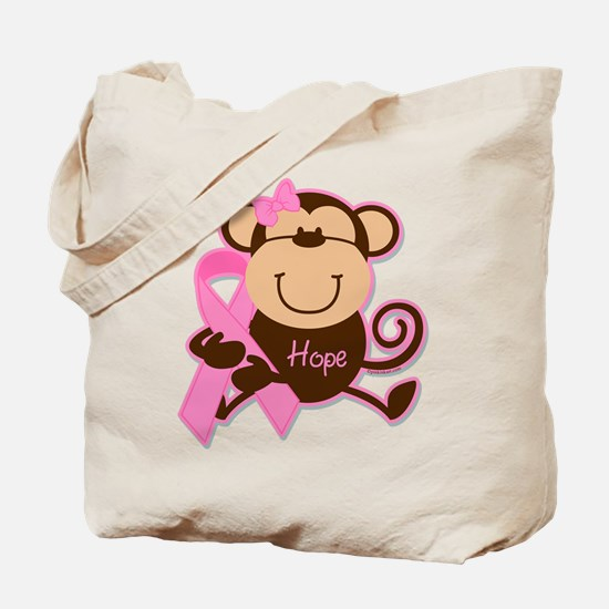Monkey Cancer Hope Tote Bag
