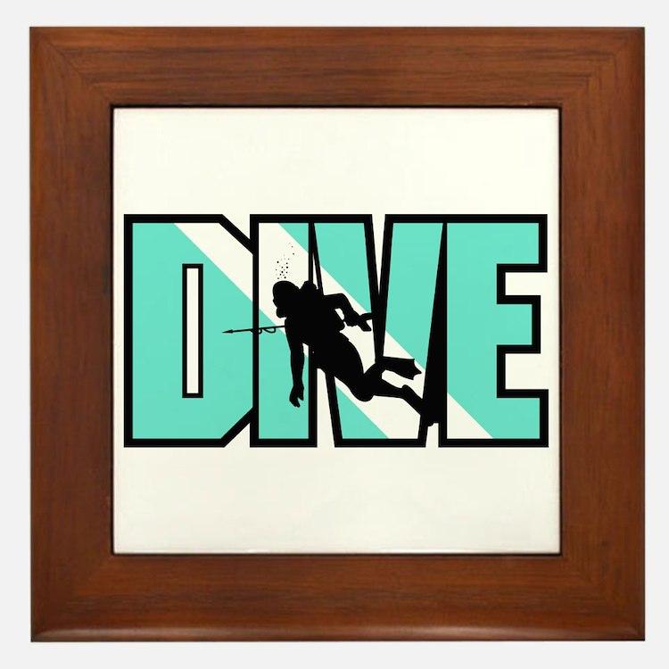 Dive Framed Tile