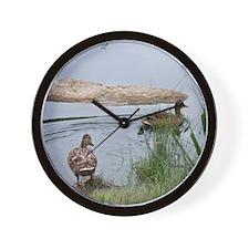 Ducks in Pond Wall Clock