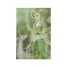 Lady of Compassion Rectangle Magnet