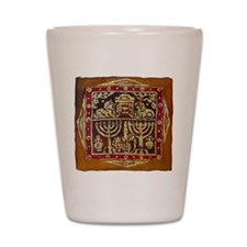 Old Jewish Symbols Shot Glass