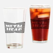 Metal Head Drinking Glass