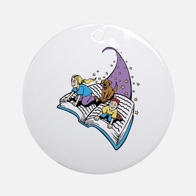 Image of a Story Book Ornament (Round)