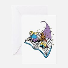 Image of a Story Book Greeting Card
