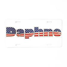 American Daphne Aluminum License Plate