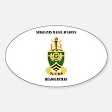 DUI - Sergeants Major Academy HQ with Text Decal