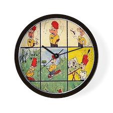 Comic Character Trouble Wall Clock