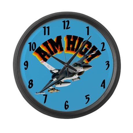 F16 Aim High Large Wall Clock