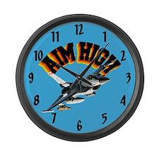 F16 Aim High Large Wall Clock