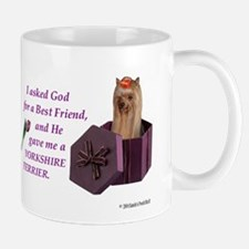 I Asked God -RecMag -DESIGN -Yorkie,Long Mugs