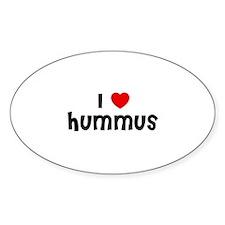 I * Hummus Oval Decal