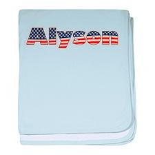 American Alyson baby blanket