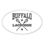 Buffalo Lacrosse Sticker (Oval)